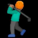 Android Pie; U+1F3CC U+1F3FD; Emoji
