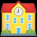 Android Pie; U+1F3EB; {[Geht nicht, da bin ich noch in der Schule.][Auf welche Schule gehst du?][Morgen muss ich später in die Schule.]} Emoji