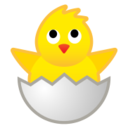 Android Pie; U+1F423; Emoji