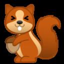 Android Pie; U+1F43F U+FE0F; Emoji