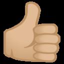 Android Pie; U+1F44D U+1F3FC; Emoji