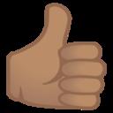 Android Pie; U+1F44D U+1F3FD; Emoji