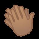Android Pie; U+1F44F U+1F3FD; Emoji