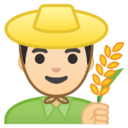 Android Pie; U+1F468 U+1F3FB U+200D U+1F33E; Emoji