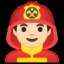 Android Pie; U+1F468 U+1F3FB U+200D U+1F692; Emoji
