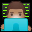 Android Pie; U+1F468 U+1F3FD U+200D U+1F4BB; Emoji