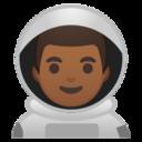 Android Pie; U+1F468 U+1F3FE U+200D U+1F680; Emoji