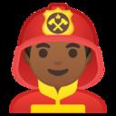 Android Pie; U+1F468 U+1F3FE U+200D U+1F692; Emoji
