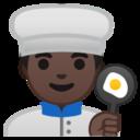 Android Pie; U+1F468 U+1F3FF U+200D U+1F373; Emoji