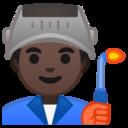 Android Pie; U+1F468 U+1F3FF U+200D U+1F3ED; Emoji