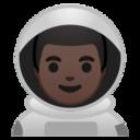 Android Pie; U+1F468 U+1F3FF U+200D U+1F680; Emoji