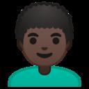 Android Pie; U+1F468 U+1F3FF U+200D U+1F9B1; Emoji