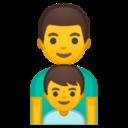 Android Pie; U+1F468 U+200D U+1F466; Emoji
