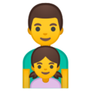 Android Pie; U+1F468 U+200D U+1F467; Emoji