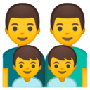 Android Pie; U+1F468 U+200D U+1F468 U+200D U+1F466 U+200D U+1F466; Emoji