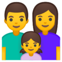 Android Pie; U+1F468 U+200D U+1F469 U+200D U+1F467; Emoji