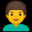 Android Pie; U+1F468 U+200D U+1F9B1; Emoji