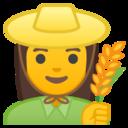Android Pie; U+1F469 U+200D U+1F33E; Emoji