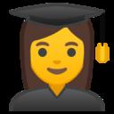 Android Pie; U+1F469 U+200D U+1F393; Emoji