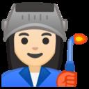 Android Pie; U+1F469 U+1F3FB U+200D U+1F3ED; Emoji