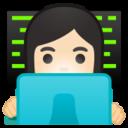 Android Pie; U+1F469 U+1F3FB U+200D U+1F4BB; Emoji