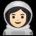 Android Pie; U+1F469 U+1F3FB U+200D U+1F680; Emoji