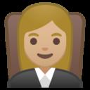 Android Pie; U+1F469 U+1F3FC U+200D U+2696 U+FE0F; Emoji