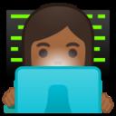 Android Pie; U+1F469 U+1F3FE U+200D U+1F4BB; Emoji