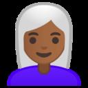 Android Pie; U+1F469 U+1F3FE U+200D U+1F9B3; Emoji