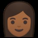 Android Pie; U+1F469 U+1F3FE; Emoji