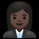 Android Pie; U+1F469 U+1F3FF U+200D U+1F4BC; Emoji