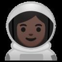 Android Pie; U+1F469 U+1F3FF U+200D U+1F680; Emoji