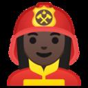 Android Pie; U+1F469 U+1F3FF U+200D U+1F692; Emoji