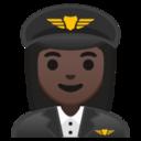 Android Pie; U+1F469 U+1F3FF U+200D U+2708 U+FE0F; Emoji