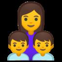 Android Pie; U+1F469 U+200D U+1F466 U+200D U+1F466; Emoji