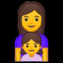 Android Pie; U+1F469 U+200D U+1F467; Emoji