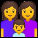 Android Pie; U+1F469 U+200D U+1F469 U+200D U+1F466; Emoji
