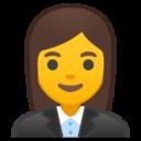 Android Pie; U+1F469 U+200D U+1F4BC; Emoji