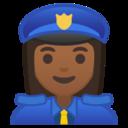 Android Pie; U+1F46E U+1F3FE U+200D U+2640 U+FE0F; Emoji