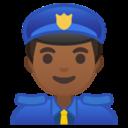 Android Pie; U+1F46E U+1F3FE; Emoji