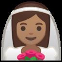 Android Pie; U+1F470 U+1F3FD; Emoji