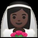 Android Pie; U+1F470 U+1F3FF; Emoji