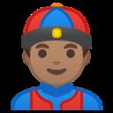 Android Pie; U+1F472 U+1F3FD; Emoji