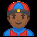 Android Pie; U+1F472 U+1F3FE; Emoji