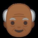 Android Pie; U+1F474 U+1F3FE; Emoji