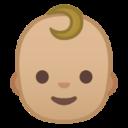 Android Pie; U+1F476 U+1F3FC; Emoji