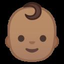Android Pie; U+1F476 U+1F3FD; Emoji