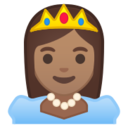 Android Pie; U+1F478 U+1F3FD; Emoji
