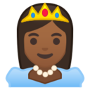 Android Pie; U+1F478 U+1F3FE; Emoji