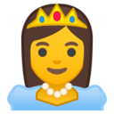 Android Pie; U+1F478; Emoji